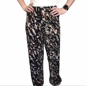 ZARA Basics High Waist Camo Pants, Size S